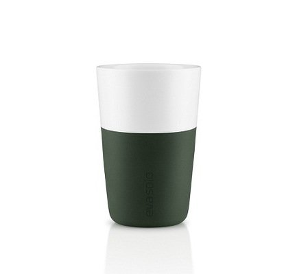 Чашки для латте (360 мл), 8.5x12.5 см, темно-зеленые, 2 шт. 501057 Eva Solo
