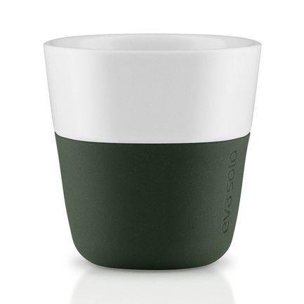 Eva Solo Чашки для эспрессо Espresso, темно-зеленые, 6x6 см (80 мл), 2 шт. 501055 Eva Solo чашка кофейная eva solo цвет бордовый 360 мл 2 шт