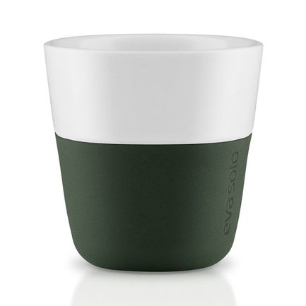 Eva Solo Чашки для эспрессо Espresso, темно-зеленые, 6x6 см (80 мл), 2 шт. 501055 Eva Solo