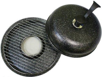 Гриль Газ Сковорода Гриль-Газ D-509, с мраморным покрытием, 33 см