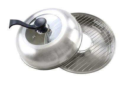 Сковорода Гриль-Газ D-519, с крышкой, без покрытия, 33см