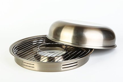 Гриль Газ Сковорода Гриль-Газ D-505, с антипригарным покрытием, 33 см