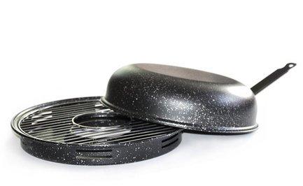Гриль Газ Сковорода Гриль-Газ D-516, с мраморным покрытием, 33 см