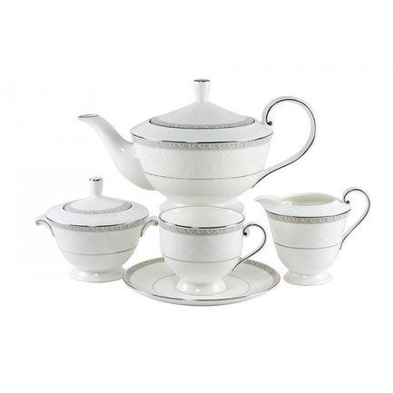 Сервиз чайный Луна на 6 персон, 17 пр. 50200-52302 Narumi чайный сервиз на 6 персон бриз голд 17 пр n96732 52564 narumi