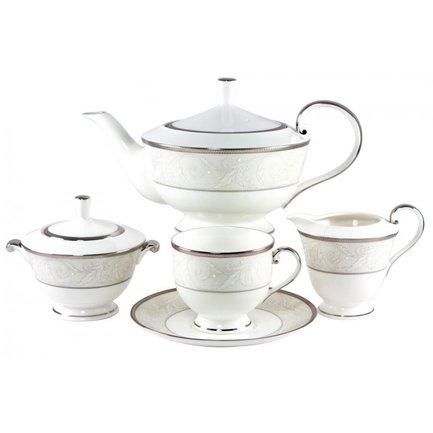 Сервиз чайный Ноктюрн на 6 персон, 17 пр. 50685-52302 Narumi чайный сервиз на 6 персон бриз голд 17 пр n96732 52564 narumi