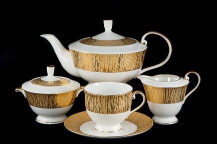 Narumi Сервиз чайный Золотой бамбук на 6 персон, 17 пр.