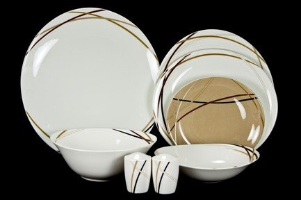 Royal Bone China Сервиз столовый Мокко на 6 персон, 23 пр. сервиз столовый 23 пр royal porcelain co сервиз столовый 23 пр