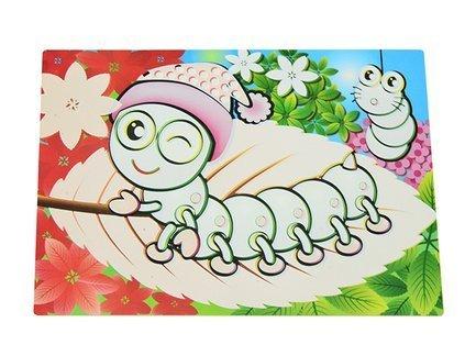 fissman комплект сервировочных ковриков 45x30 см 4 шт df 0626 pm fissman Fissman Многоразовый коврик для рисования водой Гусеница, 29x21 см DF-0642.PM Fissman