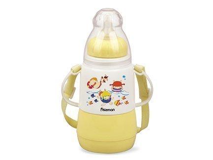 Fissman Термобутылочка для кормления (150 мл), с соской VA-7953.150 Fissman lubby бутылочка для кормления с латексной соской веселые животные совы от 0 месяцев 125 мл