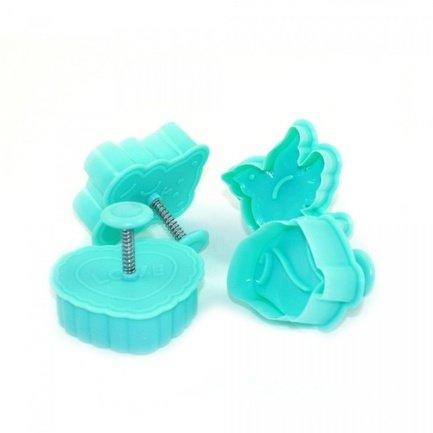 Fissman Набор мини-формочек для вырезания печенья, с поршнем, 4 шт AY-7584.BW Fissman цена в Москве и Питере