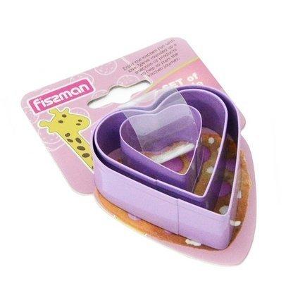 Fissman Набор формочек для вырезания печенья Сердце, 3 шт AY-8567.BW Fissman цена в Москве и Питере