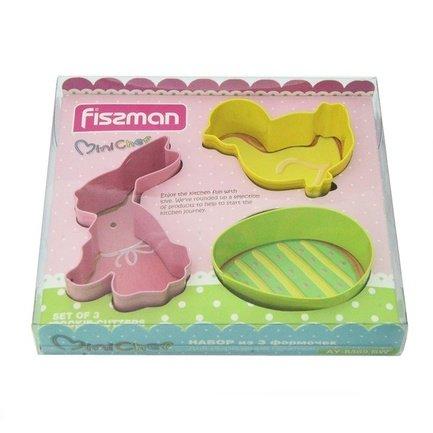 Fissman Набор формочек для вырезания печенья, 3 шт AY-8569.BW Fissman fissman набор формочек для вырезания печенья 3 шт ay 8569 bw fissman