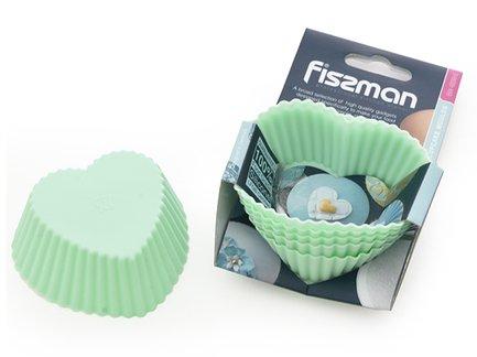 Fissman Набор формочек для кексов, 7x3.3 см, 6 шт