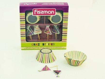Набор для выпечки кексов, 24 формочки (5x4см), шпажки 6603 Fissman