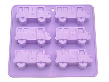 Fissman Форма для выпечки 6 кексов Автобус, 22x20x2.8 см BW-6652.6 Fissman fissman набор посуды martinez 6 пр ss 5829 6 fissman
