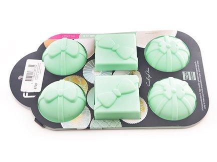 Форма для выпечки 6 кексов Подарки, 28x17.5x4 см 6735 Fissman