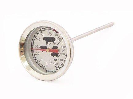 Fissman Термометр для мяса, 0-120°C, длина щупа 13 см TH-0301.AT Fissman fissman ложка для сахара selena 13 см cy 3509 sp fissman