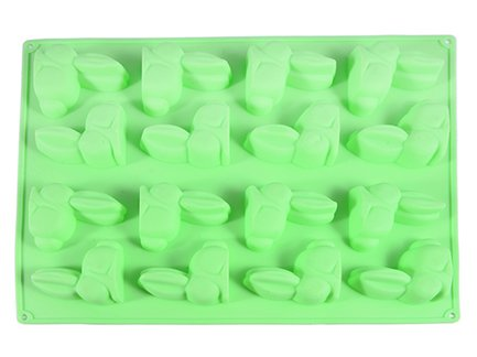 Fissman Форма для льда или шоколада Зайцы, 29x22.5x1.7 см, 16 ячеек BW-6556.16 Fissman fissman кастрюля martinez 1 8 л 16 см ss 5136 16 fissman
