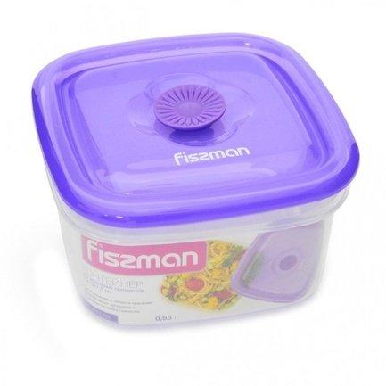 Fissman Контейнер для хранения продуктов (0.65 л), 13x13x7.5 см VC-6772.650 Fissman fissman контейнер для хранения продуктов 0 47 л 12 7x9x6 7 см vc 6790 470 fissman