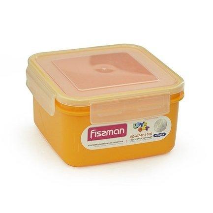 Контейнер для хранения продуктов (1.1 л), 15x15x8.5 см 6747 Fissman phibo контейнер для хранения продуктов на защелке 2 л