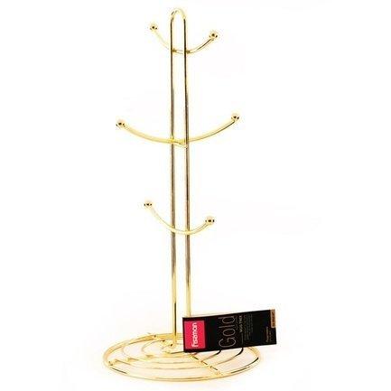 Fissman Подставка для кружек Gold, 37х15.5 см