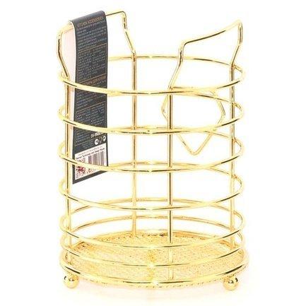 Подставка для кухонных инструментов Gold, 15х11 см 8930 Fissman подставка для кухонных инструментов polystar collection джем 9 5х14 26 см