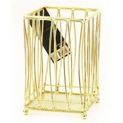 Fissman Подставка для кухонных инструментов Gold, 17х11х11 см SV-8934.UH Fissman контактные линзы 1 day adria glamorous color 2 шт 8 6 14 5 pure gold 2 5 1 упак