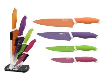 Fissman Набор ножей Sambuca, 5 пр, на акриловой подставке wusthof набор кухонных ножей gourmet 6 пр на деревянной подставке
