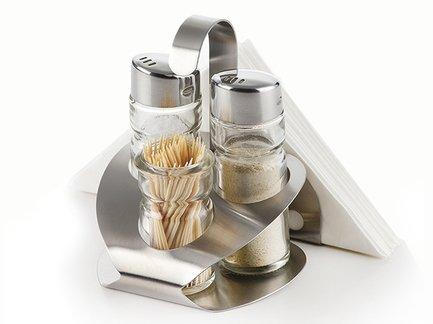 Fissman Набор для приправ, 9х10.5х12 см, 4 пр CM-7604.4 Fissman fissman набор посуды martinez 6 пр ss 5829 6 fissman