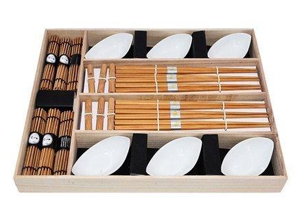 Fissman Набор для суши на 6 персон, 24 пр, в деревянной коробке SH-9581.24 Fissman набор палочек для суши на 5 персон 25 11 2см уп 1 100наб