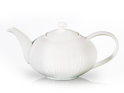 Fissman Заварочный чайник Elegance White (1000 мл) TP-9351.1000 Fissman fissman заварочный чайник casablanca 1000 мл tp 9277 1000 fissman