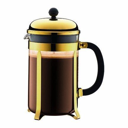 Bodum Кофейник с прессом Chambord (1.5 л), золото 1932-17 Bodum bodum кофейник с прессом chambord 1 л золотой