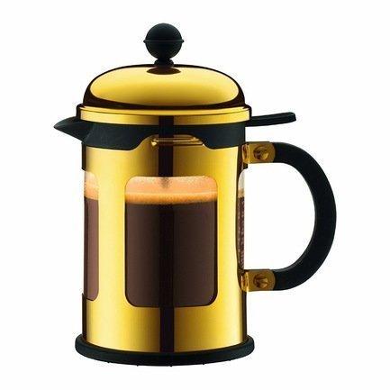 Bodum Кофейник с прессом Chambord (0.5 л), золото 11171-17 Bodum bodum кофейник с прессом chambord 1 л золотой