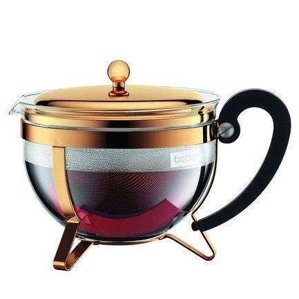 Bodum Чайник заварочный Chambord (1.3 л), золото 11656-17 Bodum чайник заварочный iris barcelona 0 7 л