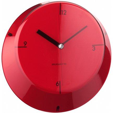 Настенные часы Glamour, 33 см, красные GL3U-02190 Casa Bugatti casa bugatti держатель для салфеток trattoria tobacco 26х14х8 см 78 166fta casa bugatti