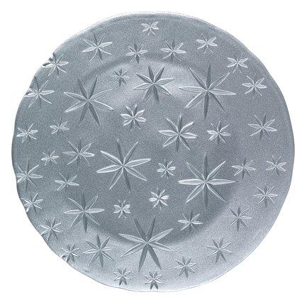 Блюдо Stars, 32 см, серебряное 95893 Nachtmann блюдо square прямоугольное 42х15 см бессвинцовый хрусталь 101048 nachtmann