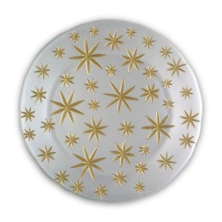 Блюдо Golden Stars, 32 см, белое 99661 Nachtmann блюдо square прямоугольное 42х15 см бессвинцовый хрусталь 101048 nachtmann