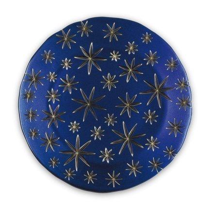 Nachtmann Блюдо Golden Stars, 32 см, синее 99657 Nachtmann printio синее сердце