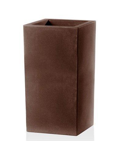 TeraPlast Кашпо Schio Cubo Alto Essential, 40x40x80 см, бронзовое 11426080039 TeraPlast
