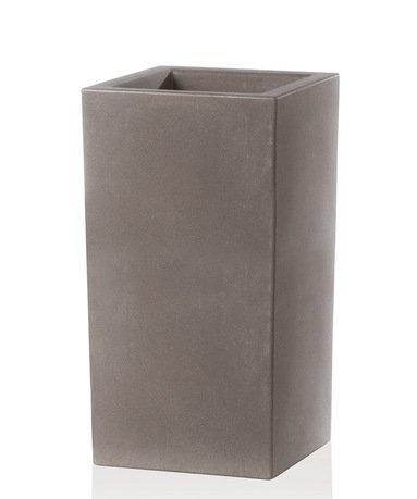 TeraPlast Кашпо Schio Cubo Alto Essential, 40x40x80 см, капучино 11426080201 TeraPlast