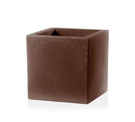 TeraPlast Кашпо Schio Cubo Essential, 30x30x30 см, бронзовое 11425030039 TeraPlast collins essential chinese dictionary