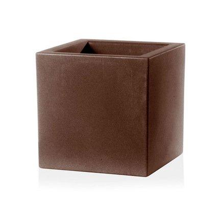 TeraPlast Кашпо Schio Cubo Essential, 40x40x40 см, бронзовое 11425040039 TeraPlast