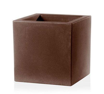 TeraPlast Кашпо Schio Cubo Essential, 50x50x50 см, бронзовое 11425050039 TeraPlast