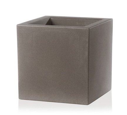 TeraPlast Кашпо Schio Cubo Essential, 50x50x50 см, капучино 11425050201 TeraPlast