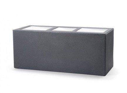 TeraPlast Кашпо Schio Cassa Essential с автополивом, 80x30x30 см, антрацит 16427080032 TeraPlast