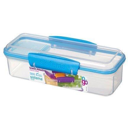Контейнер с отделениями, To-go 21479 Sistema контейнер для йогурта to go 150 мл 7 4х13 7 см 2шт 21466 sistema