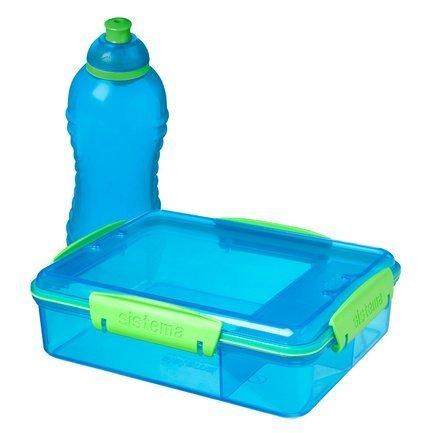 Ланч-бокс с отделениями и бутылкой, синий 41575 Sistema