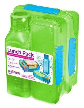 Ланч-бокс с бутылкой, зеленый 1590 Sistema недорого