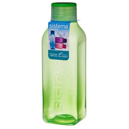 Бутылка квадратная Hydrate (725 мл), цвета в ассортименте 880 Sistema бутылка для воды hydrate 600 мл 7х20 6 см 600 sistema