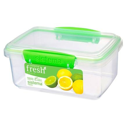 Контейнер Fresh (1 л), 17.5х11.7х8 см, зеленый 951600 Sistema контейнер fresh двойной 2 л 23 5х17х9 см зеленый 951720 sistema